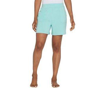AnyBody Cozy Knit Shorts with Pockets 3937